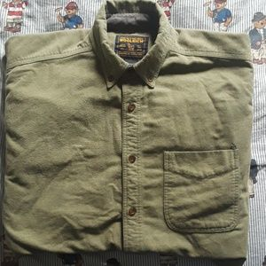 WOOLRICH 'Military Green' Button Down XL